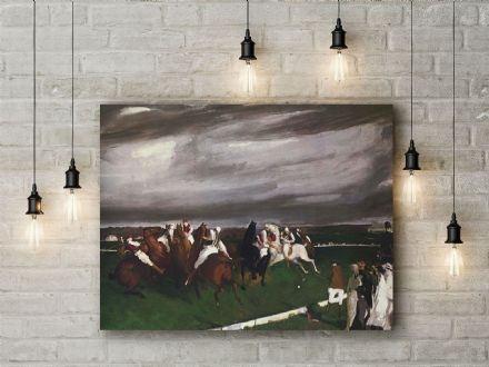 George Bellows: Polo at Lakewood. Fine Art Canvas.
